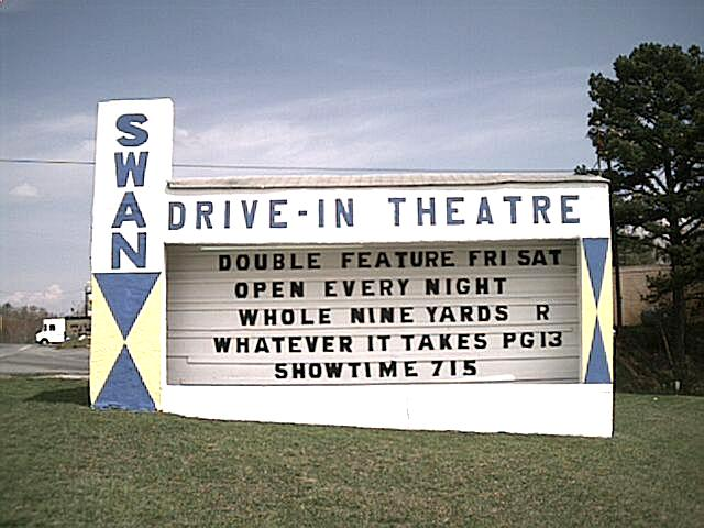 Swan Drive In Theater Sign