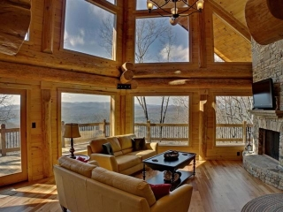 Inside Georgia Mountain Cabin