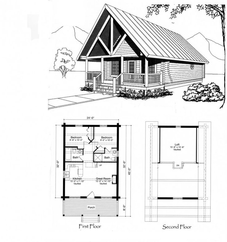 Vacation Cabin Design Floor Plan
